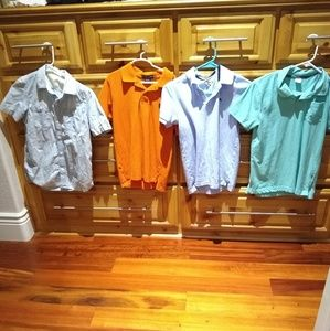 Boys size 10-12 collared shirt bundle Gap H&M Polo